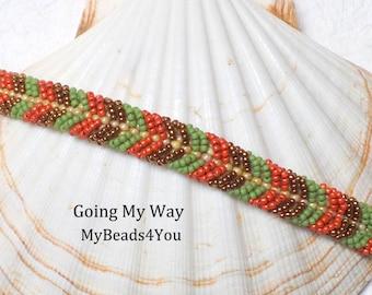 Beaded Bracelet, Green Beaded Bracelet, Seed Bead Bracelet, Embellished Bracelet, Beadwoven Bracelet, Friendship Bracelet, Seed Bead Jewelry
