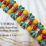 PDF Beading Bracelet Tutorial, Easy Bracelet Pattern Instructions,Tutorials and Patterns for Seed Beads, Superduo Beads DIY Beading Jewelry