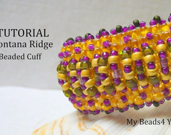 DIY Beading Tutorial,Bracelet Beading Pattern,Seed Bead Pattern,Seed Bead Tutorial,PDF Beading Pattern,Beading Instructions, How to Bead