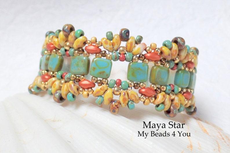 Beaded Bracelet Beadwoven Bracelet Seed Bead Jewelry image 0
