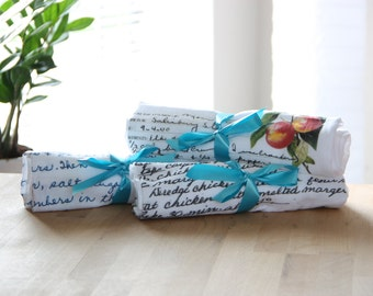 Set of 25 / / Recipes in Original Handwriting on Tea Towels / / Print Directly on Towel / / Bulk - Wholesale Gifts for Family, Mom, Grandma