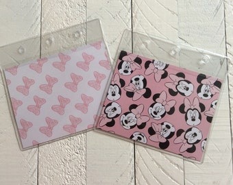 Disney Themed Mickey and Minnie Ears Checkbook Cover Holder