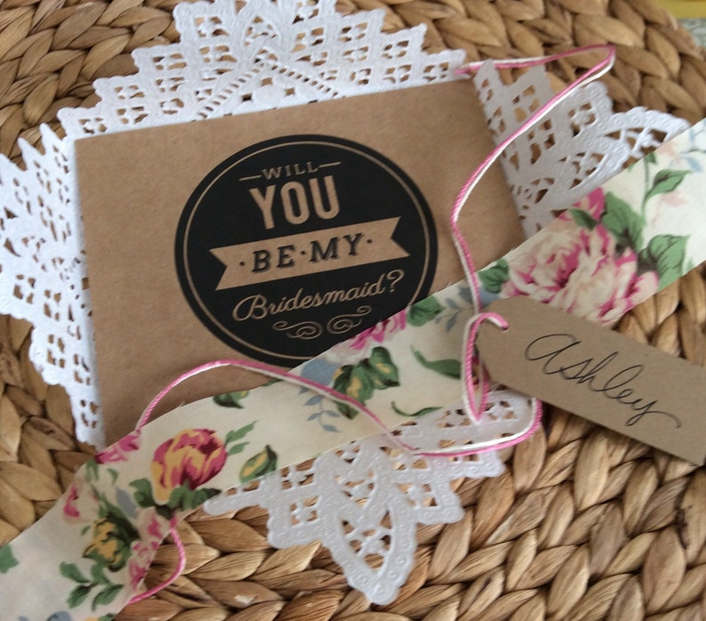 3 Will You Be My Bridesmaid  Set 3 4 5 6 7 8 Paper Lace image 0
