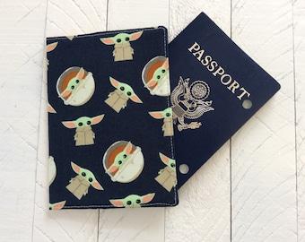 Baby Yoda Passport Cover - Mandalorian Passport Holder - International Travel - STAR WARS Fan Gift -  Best Friend Gift - Passport Wallet
