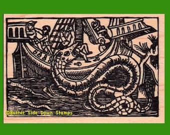 Sea Dragon Rubber Stamp