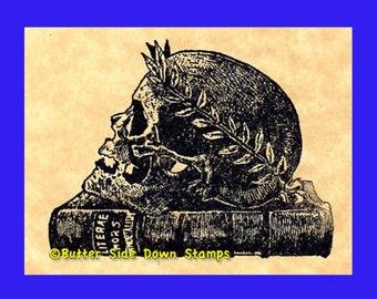 Roman Skull Rubber Stamp
