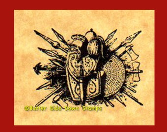 Medieval Weapons of War Rubber stamp