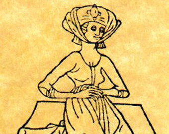 Lady in Waiting Medieval Rubber Stamp