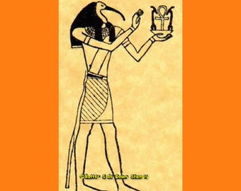 Wood Mount Group of Ancient Egyptians Rubber Stamp Vintage
