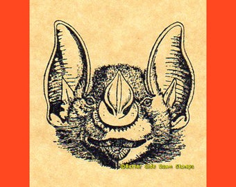 Spear-nosed Bat Rubber Stamp