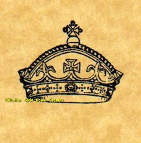 Royal Crown Set of 4 Different Rubber Stamps