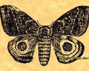 Io Moth Rubber Stamp