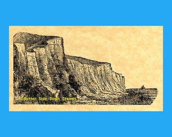 White Cliffs of Dover Rubber Stamp