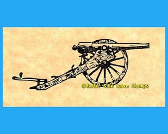 Parrott Gun Field Artillery Cannon Rubber Stamp