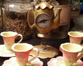 Imperial Steampunk Doll's Tea Set. Free Shipping!