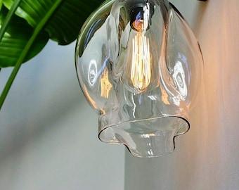 """Blown Glass Pendant Lights 8"""" / 120v 40w Bulb, Pendant Light Installation, Hanging Pendant Lights, Glass Globes, Interior Design Light"""