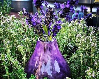 Glass vase / blown glass vase / flower vase hand made glass art