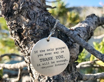 2 sided pendant,  John Muir quote, Nature patterns, Meister Eckhart, Nature inspired, Botanical prints, Botanical jewelry, Butterfly pendant
