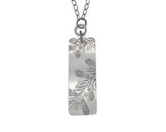Spruce necklace, spruce pendant, spruce jewelry, forest necklace, forest pendant, botanical jewelry,nature inspired,nature inspired necklace