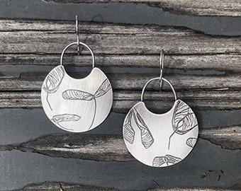 Maple Seed Earrings, Maple Seed Jewelry, Maple Seed Print, Nature print, Nature inspired jewelry, Botanical print jewelry , Maple Seeds