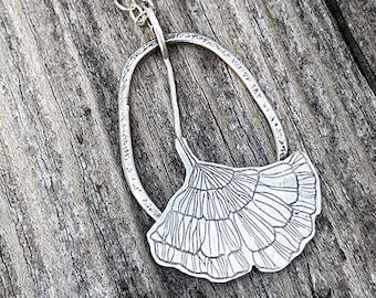 Gingko necklace, gingko pendant, gingko jewelry, gingko, leaf jewelry, leaf pendant, leaf necklace, nature inspired jewelry, nature inspired