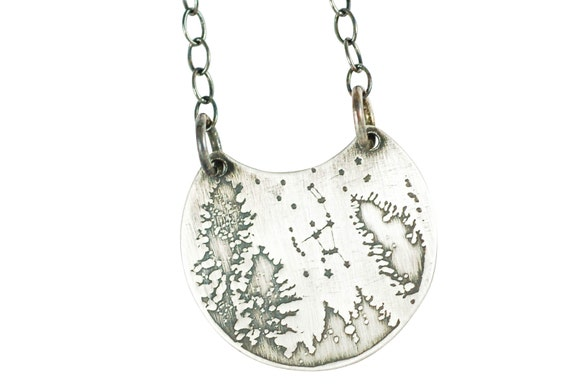 """Small Night Sky """"Orion"""" Sterling Necklace by Etsy"""