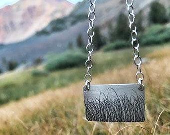 Meadows pendant, meadows necklace, meadow pendant, meadow necklace, grass necklace, grass pendant, grass jewelry, meadow jewelry