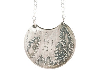 """Constellation necklace, orion constellation necklace, orion pendant, constellation pendant, Night sky """"Orion""""  Sterling Necklace"""