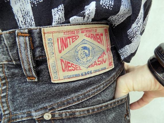 Vintage Black Diesel Mum's Jeans//90s Style Black
