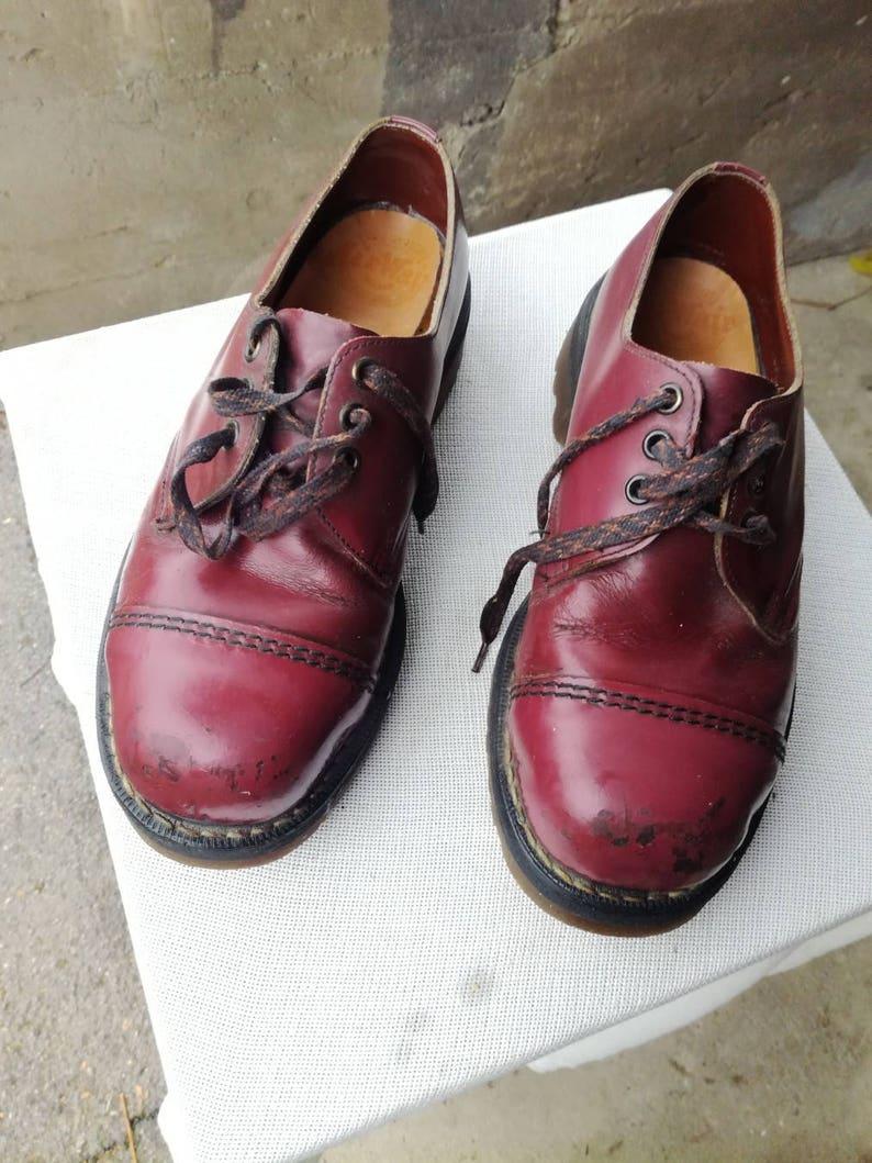 Dr Martens Bordeaux Shoes VNTG 90s Rare Dr MARTENS  Chunky Shoes UK6 EU39 USA7