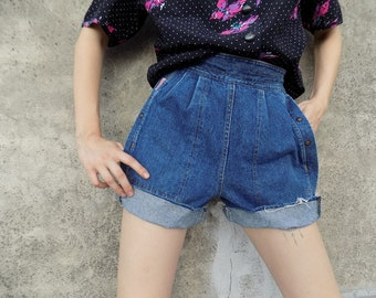 VNTG Highwaisted Denim Shorts