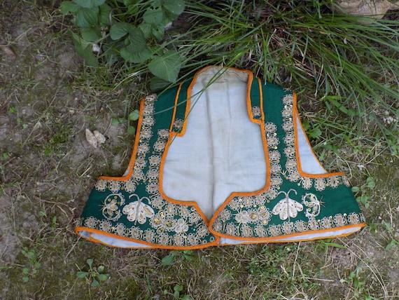 Antique Filigree Ethno Vest/1900 Hand Embroidered