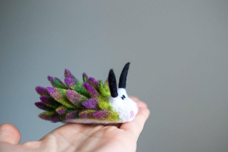Costasiella kuroshimae miniature needle felt nudibranch wool image 1