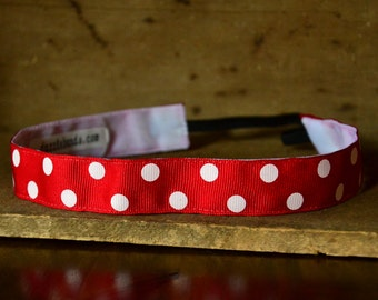 Dazzlebands No Slip Headband Polka Dots 7/8""