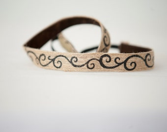 No Slip Headband Jute Swirls 5/8""