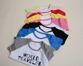 World Traveler Kids T Shirt
