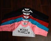 World Traveler Kids and Infant 3/4 Sleeve Baseball Shirts