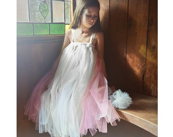 Classic Pink & Cream Flower Girl Tutu Dress