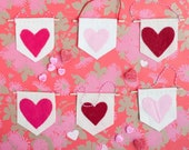 mini valentine's day banner heart card mail favor gift