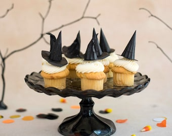 Mini Black Witch Hats Cupcake Toppers