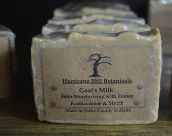 Frankincense and Myrrh Goats Milk Soap