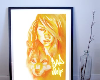Doctor Who: Rose Tyler, Bad Wolf Art Print, Doctor Who Poster, Doctor Who Print, Bad Wolf