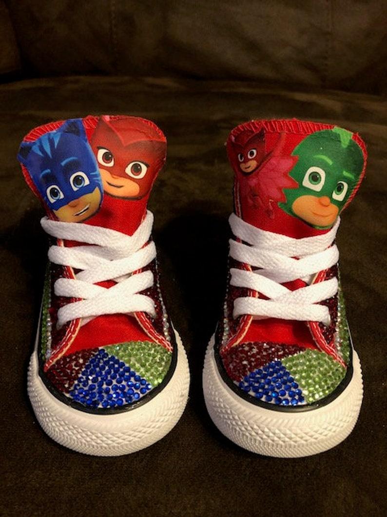 6391f768bb3a72 PJ Mask Converse   Jeweled Converse   Little Boys Allstars