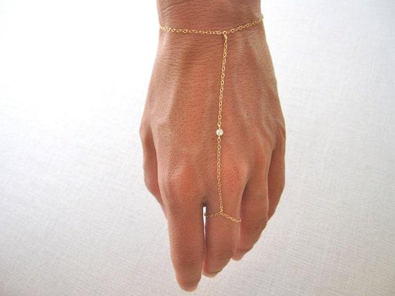 Slave Bracelet Hand Chain Delicate 14k Gold Filled
