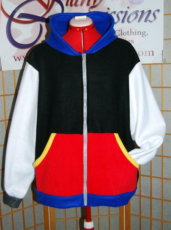 Kingdom Hearts 3 Sora Hoodie Sweatshirt Cosplay Sora Zipper Jacket Coat Costume