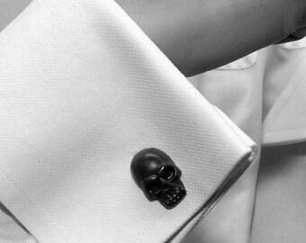 Skull Cufflinks Six Sets in many colors Skull Cuff Links wedding favors groomsmens gifts
