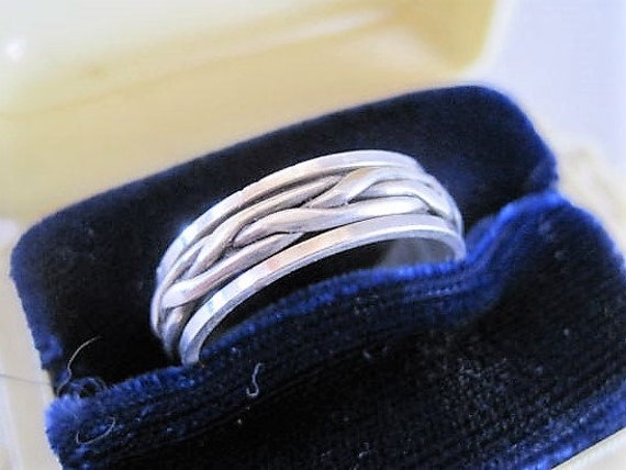 Sterling Silver Band, Size 9.5 Eternity Ring, Spinner Ring Size 9.5, Gift for Man