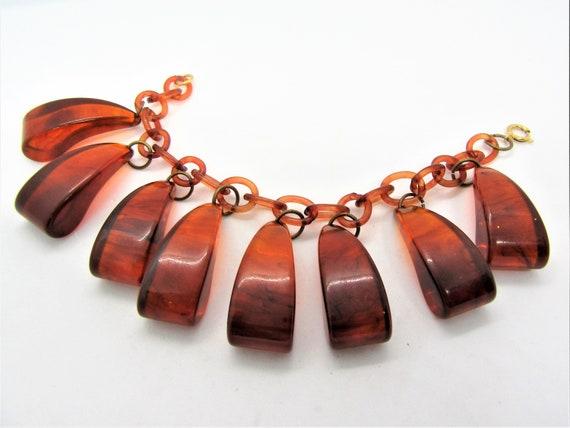 Tortoiseshell Bakelite Bracelet, Art Deco,  Bakeli