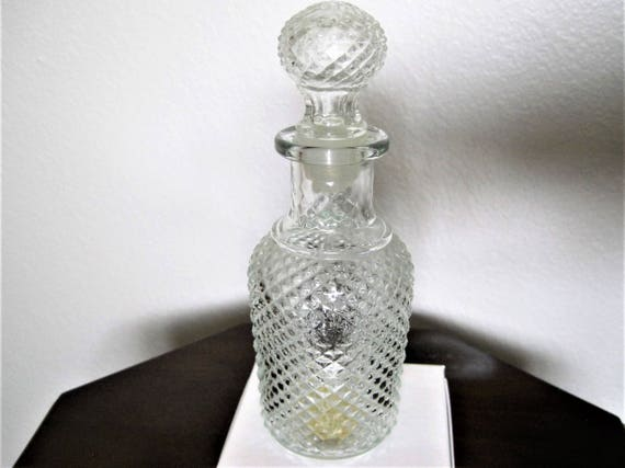 Avon Apothecary Decanter,  Plastic Covered Stopper, 60's Flavor Fresh