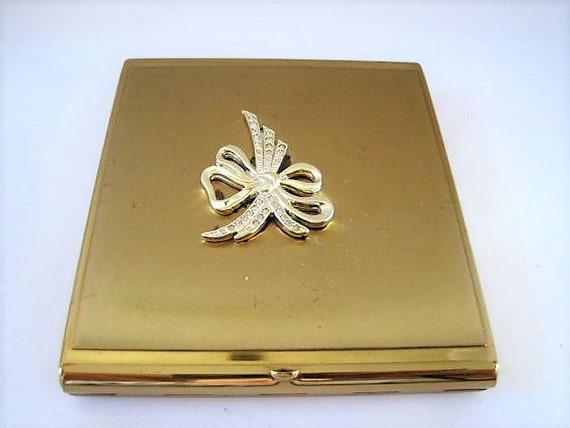 Jeweled Cigarette Case, Business Card Case,  Signed K & K USA, Rhinestone Embellished,